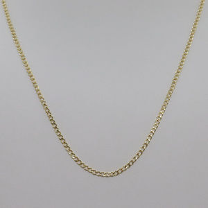 Jewelry - 14k Yellow Gold 18inch Cuban Style Necklace Chain